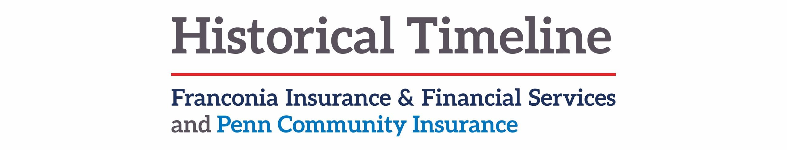Historical Timeline of Franconia Insurance and Penn Community Insurance