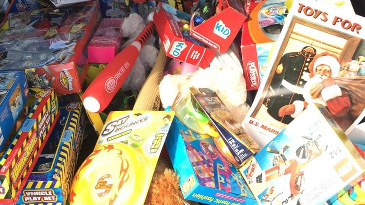 a selection of toys for Planned's toys for tots charity drive