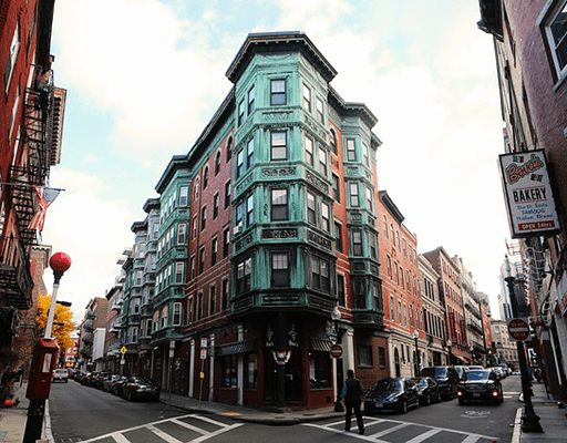 an apartment building in Boston