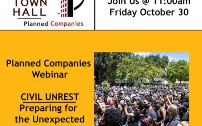 Planned Companies Presents a Virtual Town Hall on October 30  to Discuss Potential for Civil Unrest during Election Season
